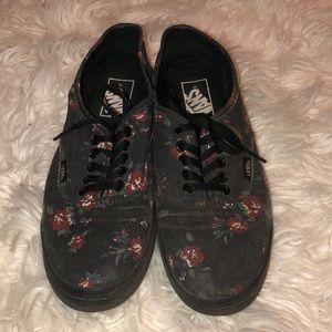 Black Floral Vans 🖤